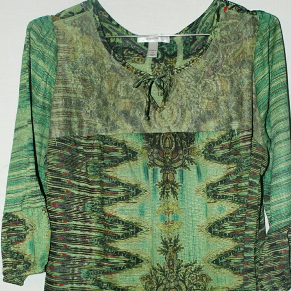 e26398c1358 Dress Barn Tops | Dressbarn Womens Tunic Size 1x Plus Green Asian ...